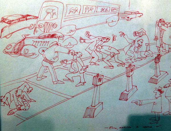 Disegno Uomo Alla Scrivania : Worldpass intervista inedita ad ettore scola il disegno come